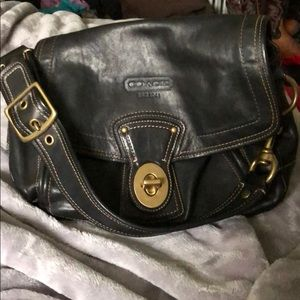 Coach large leather purse in great condition